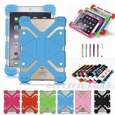 Universal Soft Sillicon Rubber Case Cover Skin Stand For iPad & Android Tablet
