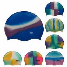 CHEX 100% Silicone Abstract 8+ Years Boys Girls Mens Ladies Swimming Cap Hat