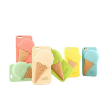 Colorful Sweet Ice Cream Silicone Soft Phone Case Cover for iPhone 6 GSE