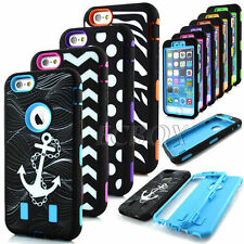 Armor Shockproof Soft Silicone Hard PC Hybrid Combo Cases For iPhone 6 6S Plus