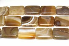Brown Banded Agate, Rectangle Bead, Brown Bead, Jewelry Bead, Jewelry Making