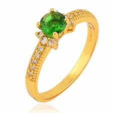 Yellow Gold Filled Topaz Wedding Rings Womens jewelry