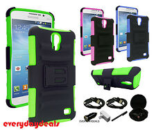 For Huawei Ascend G750 Rugged Heavy Duty Phone Case w/ Kickstand & Clip Holster