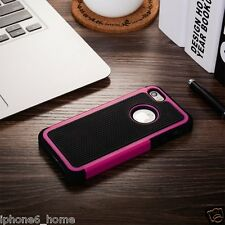 Heavy Duty Tough Armor Dual Layer Hot Pink Case Cover For iPhone 5/5s & SE