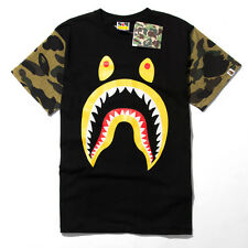 ck_abc Men's NWT Aape Shark Jaw Camo Sleeves Bape Casual Ape Round Neck T-shirt