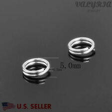 Wholesale 925 Sterling Silver Split Rings Jewelry making DIY Findings 5x0.5mm