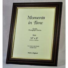Quality Wood Mahogany & Gold Finish Photo/Picture Frame -Various Sizes available