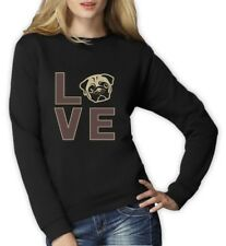 Love Pugs - Cute Pug Face Dog Lovers Gift Idea Women Sweatshirt Animal Lover