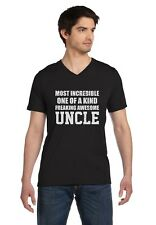 Most Incredible One Of A Kind Freakin Awesome UNCLE V-Neck T-Shirt Gift Idea