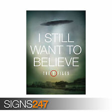 X FILES I STILL WANT TO BELIEVE UFO MULDER SCULLY MOVIE TV (1152) Poster Print