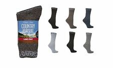 6 Pairs Womens Country Pursuit Hiking Boot Cushion Foot Work Socks 4-7