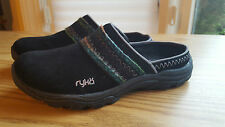 Ryka Suede Slip-On Comfort Mules Clogs Shoes Womens 5 M Black NEW NWOB