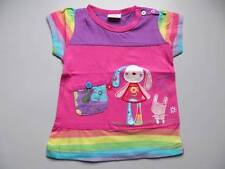 Girls' embroidered with bunny short sleeve t-shirt 18-24m 2-3Y 3-4Y 4-5Y 5-6Y