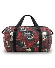 Liquorbrand Rosary Skull Gym Bag |Tattoo Gothic Derby Shoulder Punk Duffle