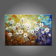 Hand Painted Oil Painting Abstract Wall Art Flower Canvas Handmade Home Decor