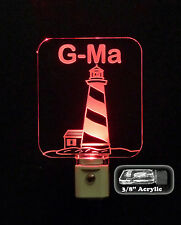 "Light House Personalized LED Night Light - Nautical Lamp  3/8"" Acrylic"