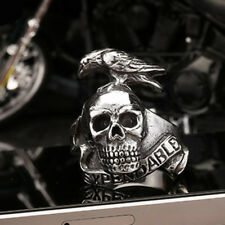 Unique The Expendables Skull Eagle 316L Stainless Steel Mens Ring GR108 Sz 7-13