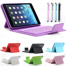 Folio Leather Bluetooth Wireless Keyboard Case Stand Cover For iPad Mini 3 2 1st