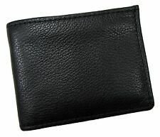 New Mens Soft Leather Removable Passcase Bifold Wallet USA Made