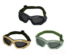 Safety Eye Protection Airsoft CS Game Metal Mesh Mask Shield Goggle Glasses `Q
