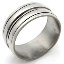 Stainless Steel Ring No Stone Smoothly Mens Womens Band Ring Size 7 8 9 10 11 12