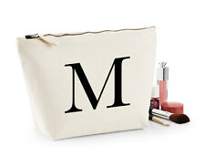 Personalised Make Up Wash Bag ANY LETTER Kids Birthday Christmas Gift Present