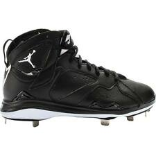 Air Jordan Retro 7 Metal Mens Cleats (Black/White)