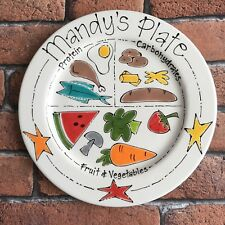 Personalised Children Child Healthy Eating Plate Unique COMPLETELY FOODSAFE