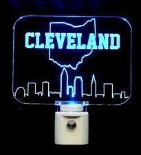 Cleveland Ohio Skyline LED Night LED Night Light, Handmade-Gift