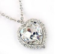 Large Swarovski Crystal Titanic Heart of the Ocean Necklace - Lowest Price Ever