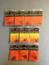 ESP RAPTOR HOOKS, G4 & G4 barbless.various sizes.  Free Postage
