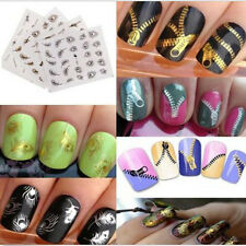 Gold Silver Nail Art Tips Stickers Decal Wraps Acrylic Manicure Decorations s