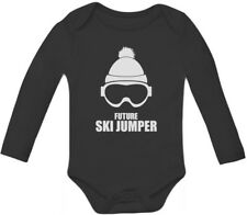 Future Ski Jumper Bodysuit Funny Cute Baby Grow Vest Baby Long Sleeve Onesie