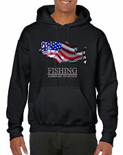 American Tradition Bass Fishing Hooded sweat shirt  FREE SHIPPING