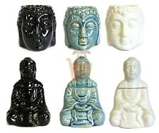 Buddha Ceramic Oil Burner Head Sitting Aromatherapy Fragrance