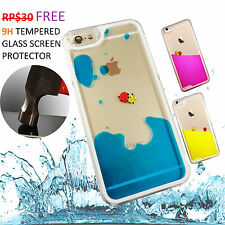iphone 6, plus 5s SE fish liquid clear case cover free glass screen protector