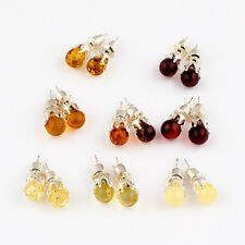 Natural Baltic Amber Earrings  in any Color You Choose