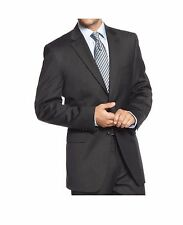 $650 Jones NY Athletic Charcoal Textured Two Button Wool New Mens Sportcoat TS34