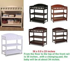 Infant Changing Table Dresser w/ Pad Shelve Storage Station Unit Drawer Baby New