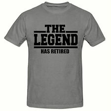 The  Legend Has Retired T-Shirt,Funny Novelty Men's T-Shirt,SM-2XL,60th Birthday