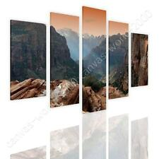 COTTON CANVAS  Split 5 panels Scenic sunset 5 Panels art prints photo photos