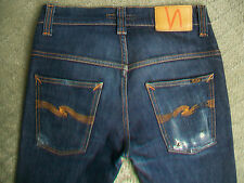 MENS NUDIE THIN FINN GRUNGE JEANS SIZE 28