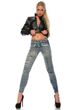 Leggings, Jeans-Optik, Jeggings, Hose, outut-look, one size. XS-M