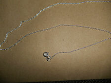STERLING SILVER 18 INCH TRACE CHAIN 1MM 1.2GMS REF S151/18