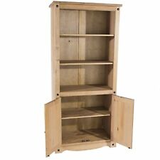 Bookcase Corona Mexican Pine Book Shelves Bookcase Display Unit Storage Cupboard