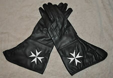 Knights Malta Soft Leather Gauntlets with Malta Cross - choice of sizes (KT062)