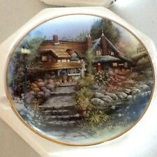 The Cottage on Swan Lake Plate by ROYAL DOULTON, FRANKLIN MINT