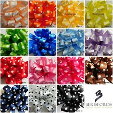 25mm Polka Dot Ribbon 15 Colours, 3 Lengths by Berisfords