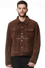 'TRUCKER' Men's Brown SUEDE 1280 Classic Real Cowhide Western Leather Jacket
