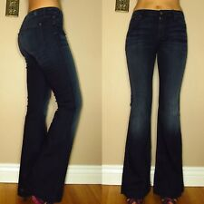 $198 Seven 7 For All Mankind High Rise Waist Trousers Flare Wide Leg Jeans 24 XS